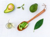 avocado with natural ingredients for makeup