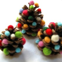 Pinecone Trees by Recyclart