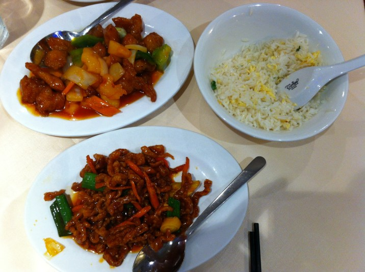 Chinatown London - Crispy Chilli Beef; Sweet & Sour Chicken