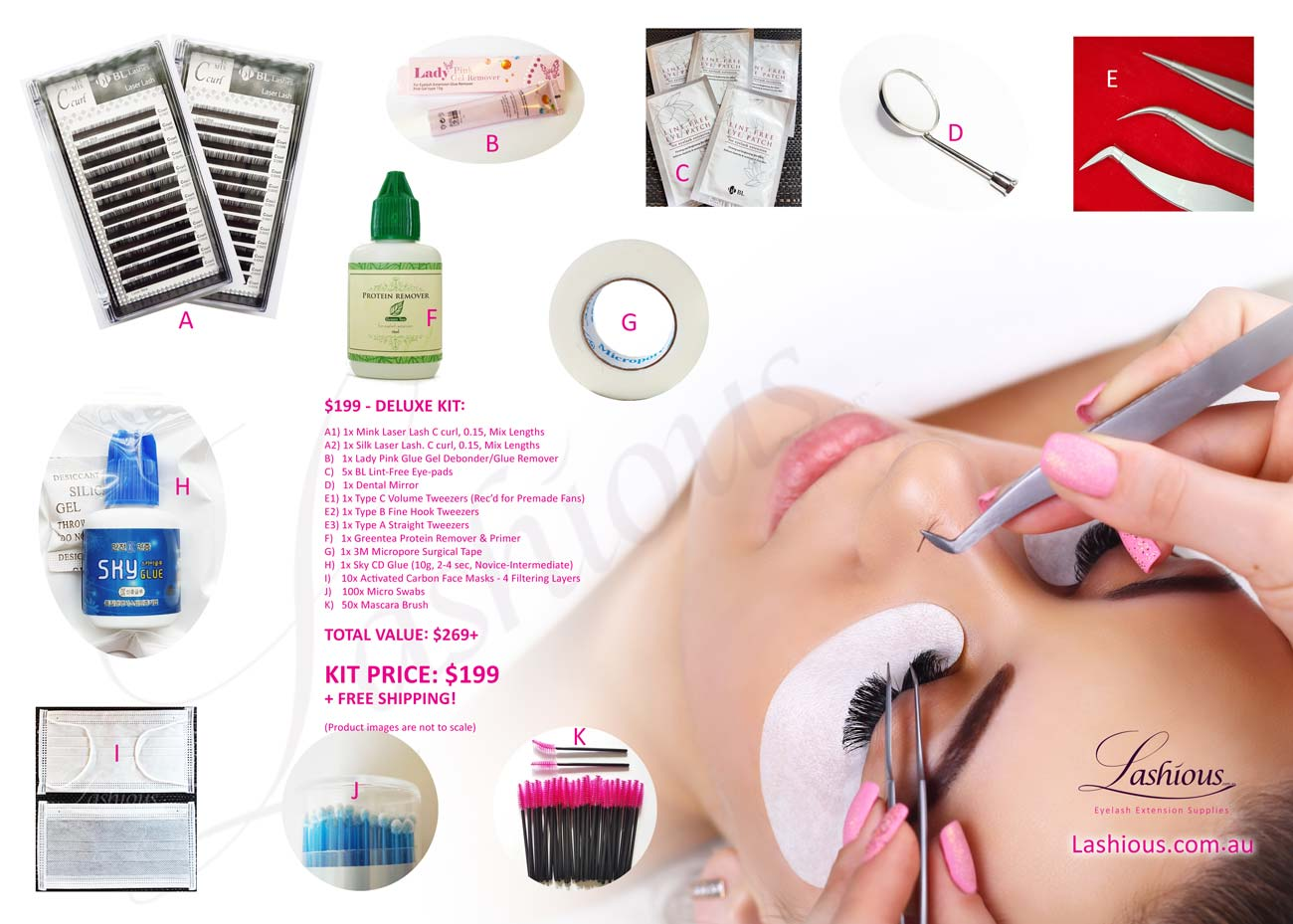 c06d3b1ac5c Eyelash Extensions Kit - Lashious Australia