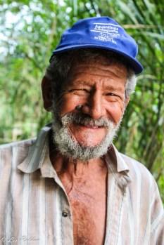 Rostro, anciano, Hombre que vive al lado del Río la vieja, Colombia