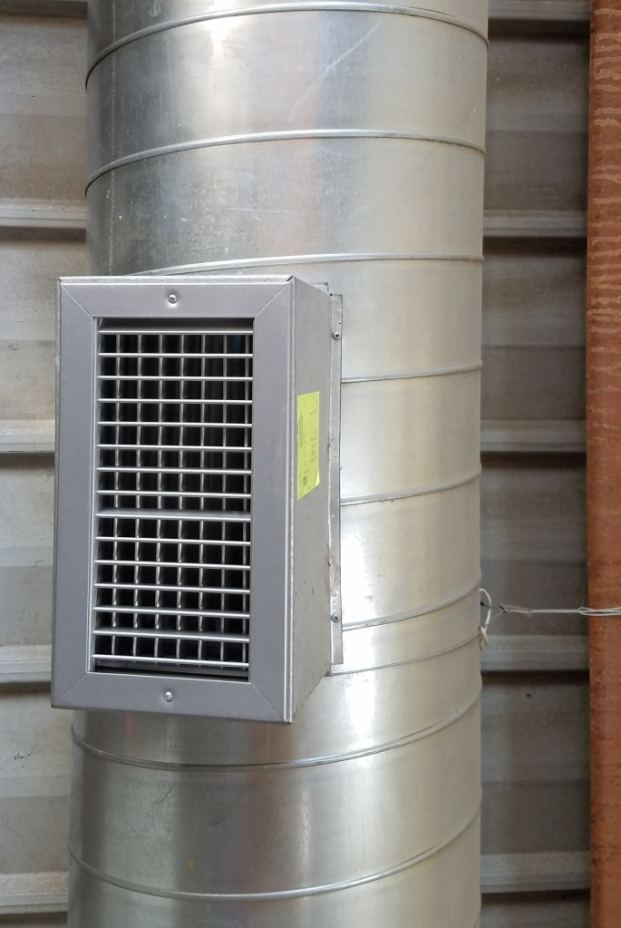 hvac mounted spiral grille