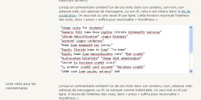 Configurer les commentaires sur votre blog