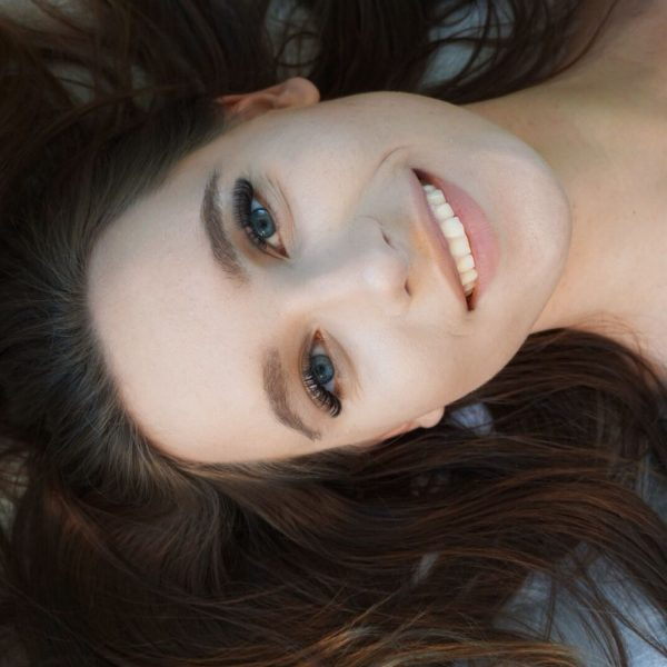 Eyelashes with a smile