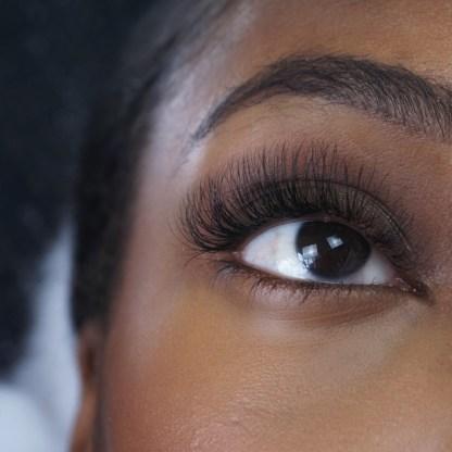 up close eyelash extensions