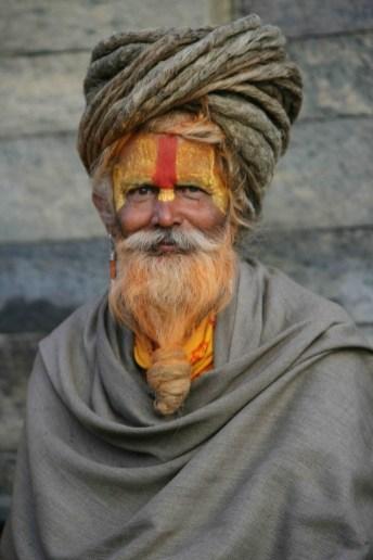 Baba o monje Sadhú de Pashupatinath, Katmandú