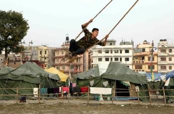 Camp Hope, Refugiados del terremoto, Katmandú