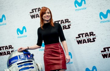 MADRID, SPAIN - DECEMBER 12: Natalia Sprenger during 'Star Wars: Los Ultimos Jedi' Madrid Premiere on December 12, 2017 in Madrid, Spain. (Photo by Samuel de Roman/Getty Images For Disney)
