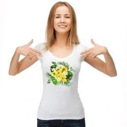 Блуза с джунгла мотив