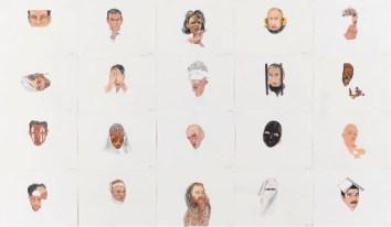 Ejercicios de puntería, 2007/08, acuarela sobre papel, 30 x 40 cm. (c.u)