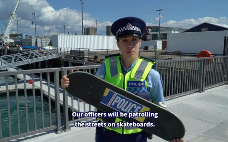 Police skate Nouvelle Zélande