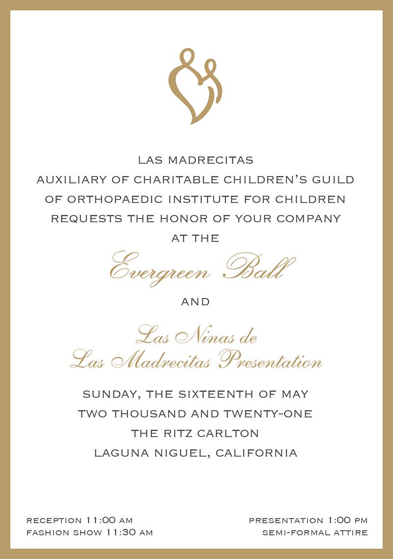 2021 Evergreen Ball invitation