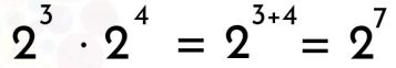 ejemplo del producto de potencias de igual base