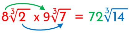 segundo ejemplo de multiplicación de radicales con ídnices iguales resuelto