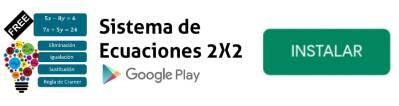 app sistema de ecuaciones lineales 2x2
