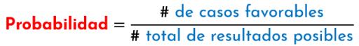 Fórmula general de la probabilidad de la ocurrencia de un suceso o evento