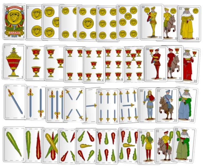 baraja española de 40 cartas