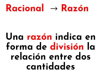 por qué los racionales se llaman así y su relación con las fracciones