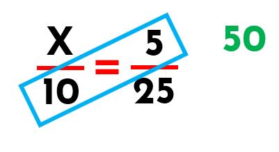 proporcionalidad en dos razones con su diagonal