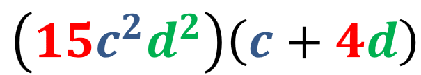 solución por factor común del ejemplo 2
