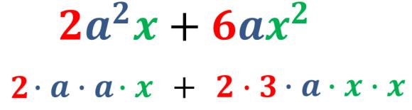 reescribir ejemplo 1 en factores