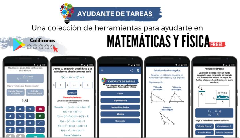 app ayudante de tareas de matemáticas y física