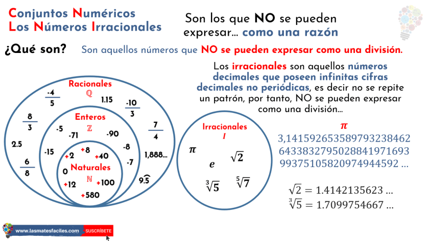 qué son los números irracionales