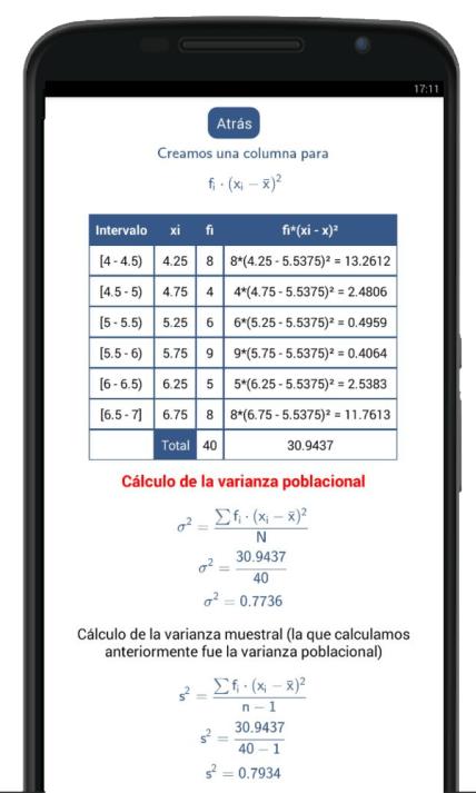 calculadora de varianza y desviación estándar