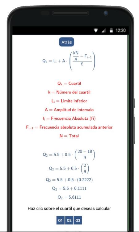 calculadora de cuartiles deciles y percentiles