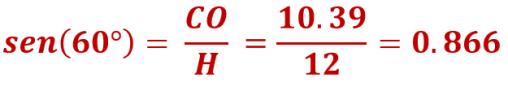 razones trigonométricas: seno de 60º