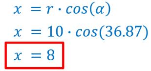 calcular x de una coordenada cilíndrica