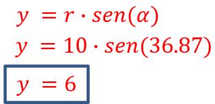 calcular Y de una coordenada cilíndrica