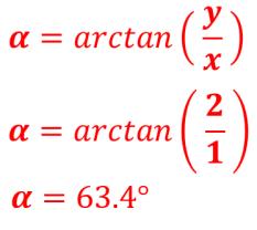 cálculo del ángulo alpha coordenada esférica