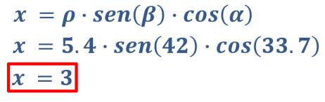 calcular x coordenada esférica