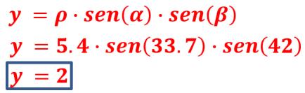 calcular Y coordenada esférica
