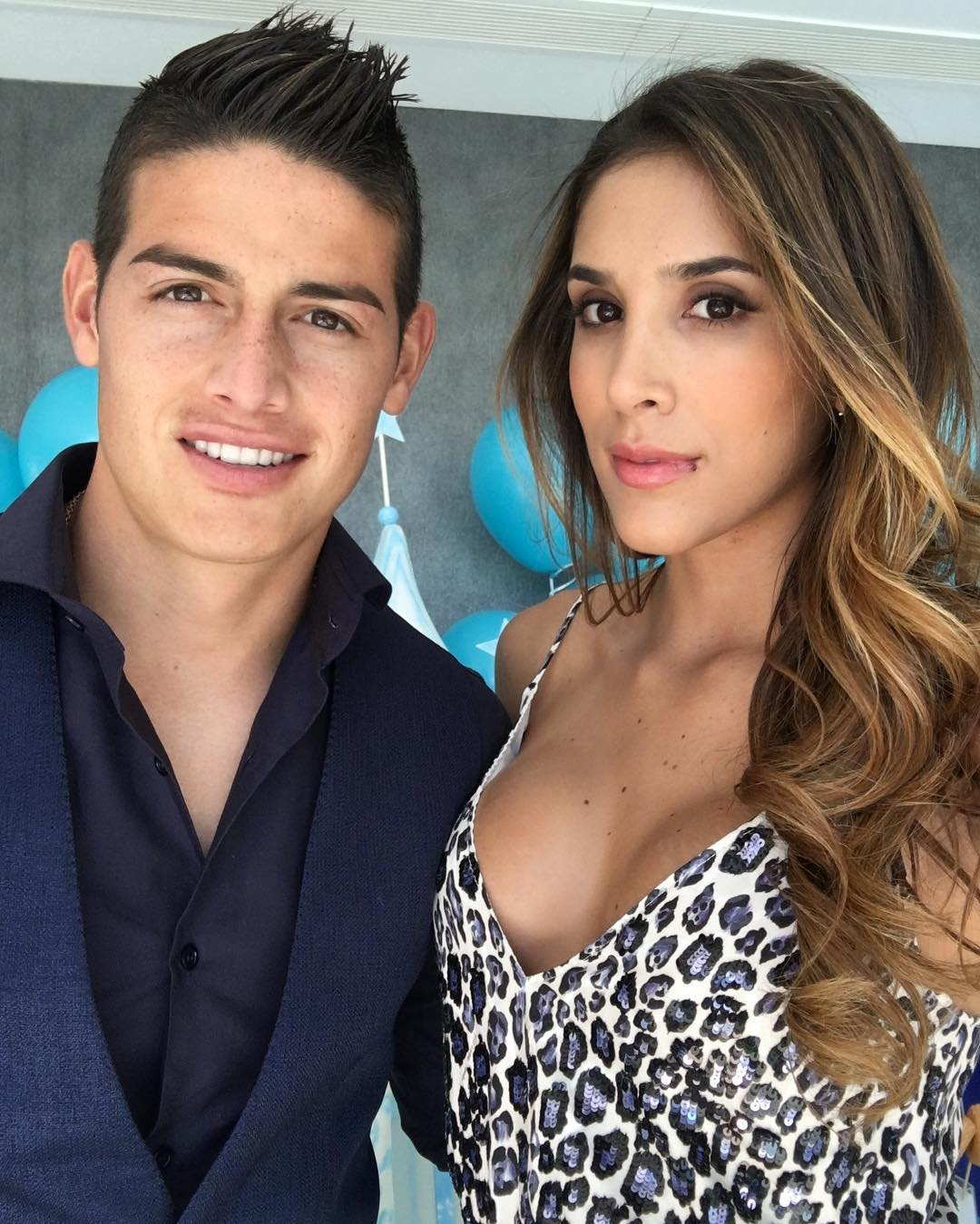 Daniela Ospina y James Rodriguez