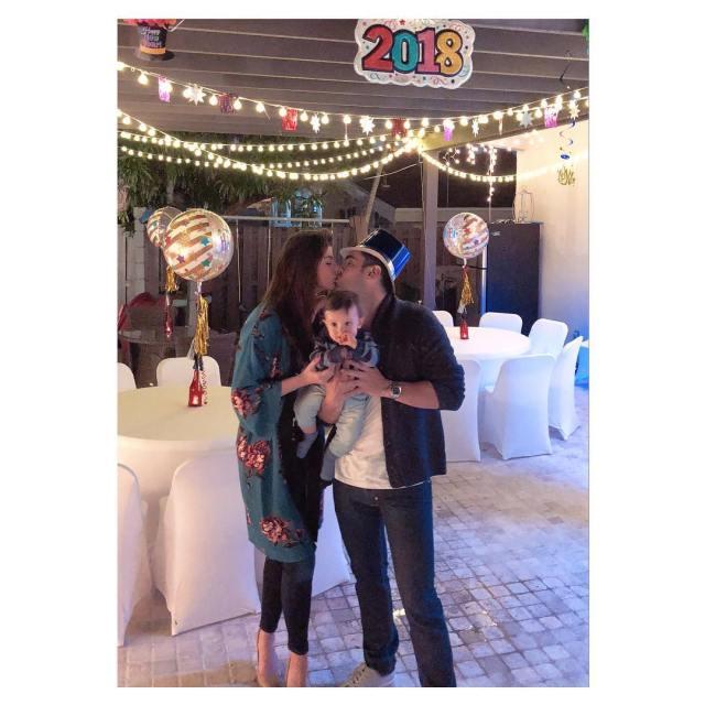 Carolina Cruz recibe el año nuevo en familia
