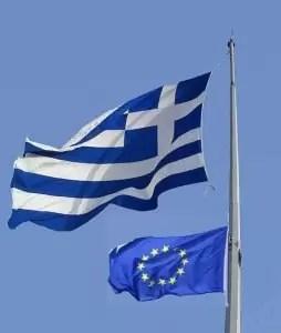 EU Griechenland Flagge b
