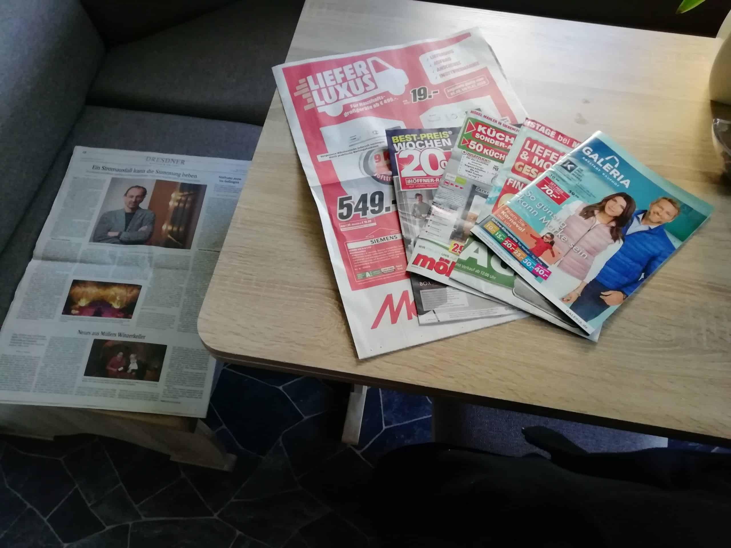 Beilagen-Werbung in der Sächsischen Zeitung