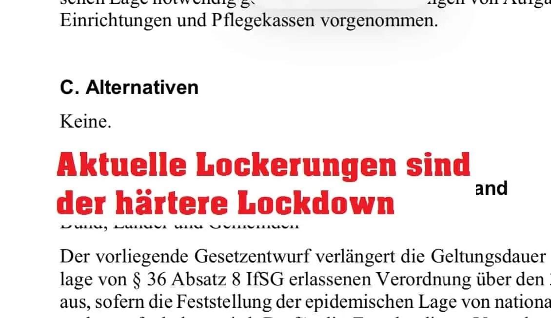 Aktuelle Lockerungen sind der härtere Lockdown