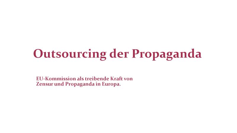 Outsourcing der Propaganda