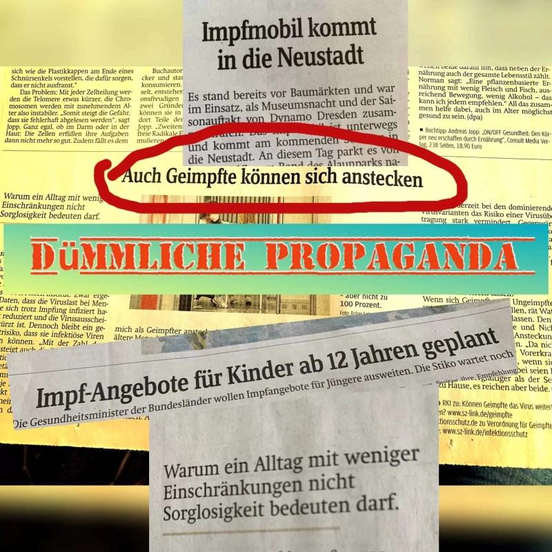 Dümmliche Propaganda