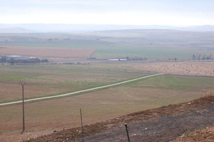 Campo de batalla visto desde castillo de Alarcos