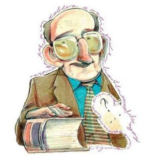 Caricatura de D. Emilio Alarcos Llorach