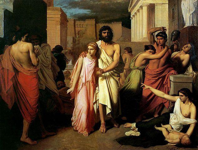 Edipo y Antigona  de Charles François Jalabert