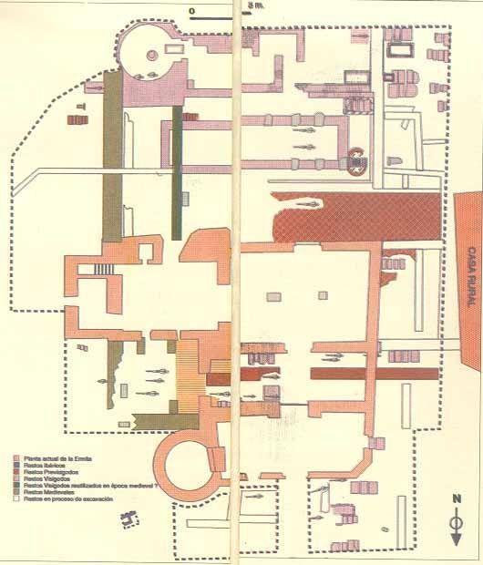 plano de excavaciones de oreto