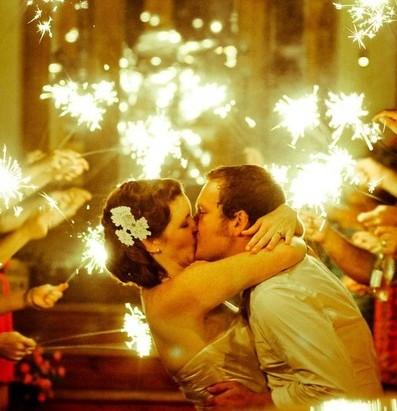 un feu d'artifice pour son mariage