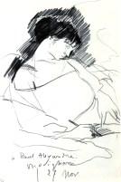 Amedeo Modigliani, Maud Abrantès au lit, écrivant.