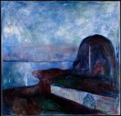Edvard Munch, starry night.