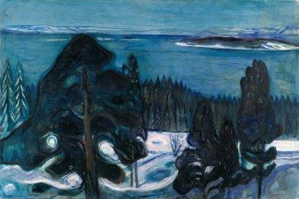 Edvard Munch, notte d'inverno.